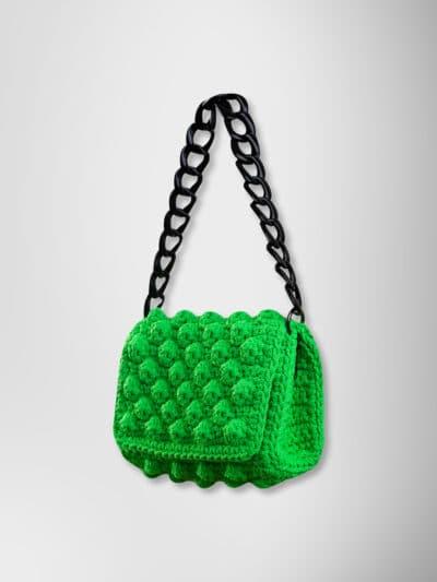HANDMADE BAG BUBBLES GREEN