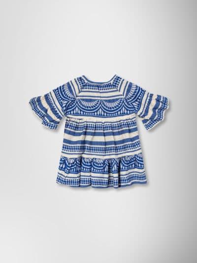 COBALT BLUE JACQUARD DRESS