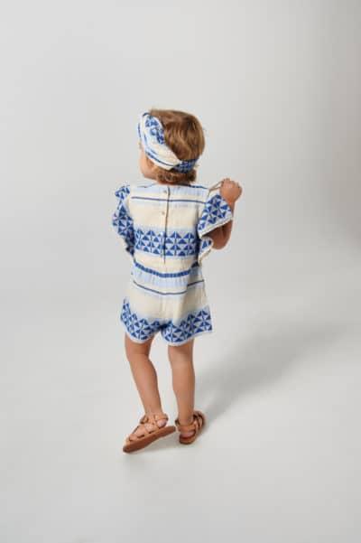 KIDS JACQUARD JUMPSUIT COBALT BLUE