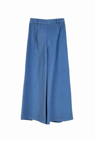 WIDE LEG CULOTTE CORDUROY BLUE