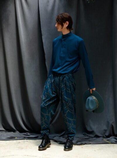 JACOPO PANTS PRINTED BLUE