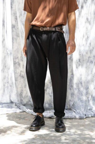 KULE DEEP-PLEATED PANT BLACK