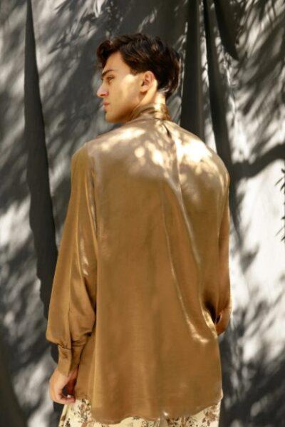 CLERGIC SHIRT SATIN GOLD