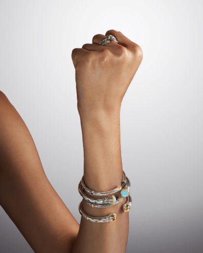 Bracelet blue Topaz and Corundum Gemstone