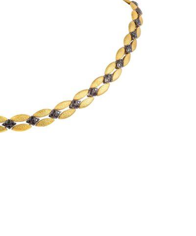 BLACK DIAMOND NECKLACE 18k GOLD 41''