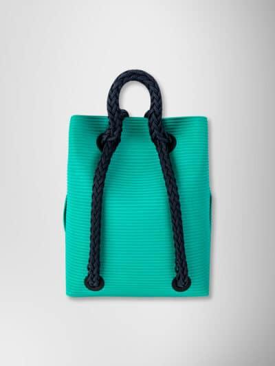 backpack aqua with 3D blue black rope