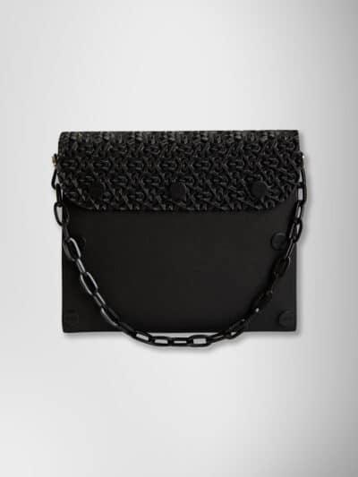 EvaClutch onchain small off black-black 3D